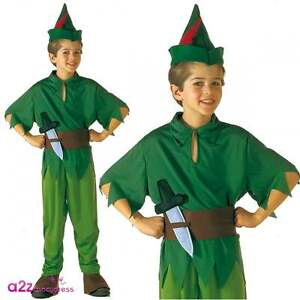 Peter Pan Robin Hood Xmas Nativity Book Week Fancy Dress Up Costume Ages 4-11