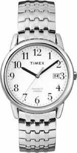 Timex-T2P294-Men-039-s-Silver-Tone-Expansion-Watch-Indiglo-Day-Date