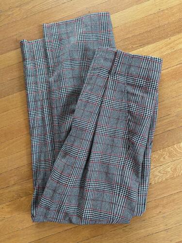 Isabel Marant Plaid Pleated Wool Trousers