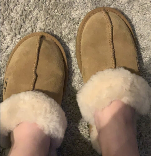 UGG COQUETTE WOMEN SLIPPERS SUEDE Brown US Size 5