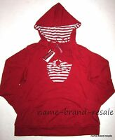 Gitano Red Silver Striped Halter 2fer Hooded Top Shirt Womens Plus 18 20 2x