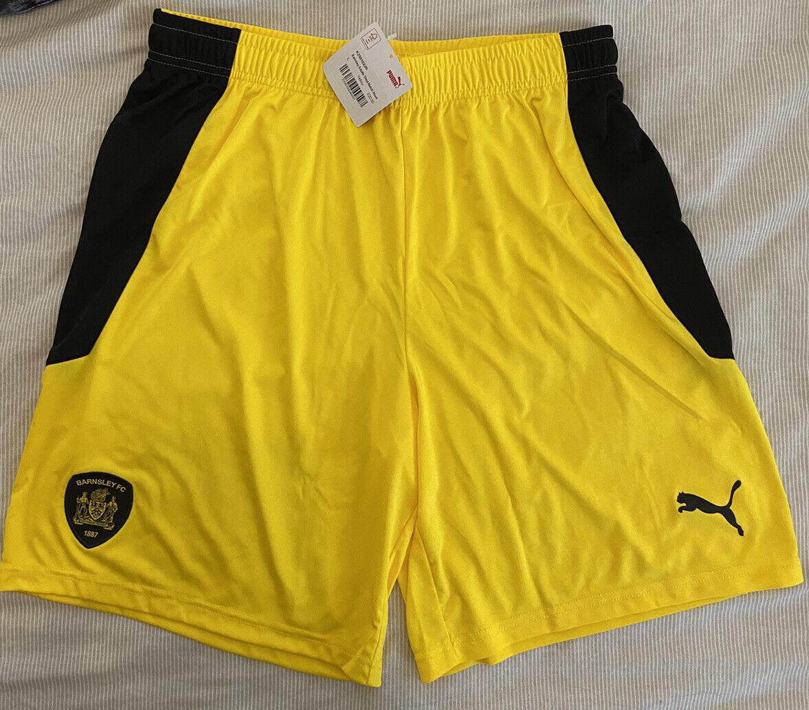 Barnsley FC Puma Adultos tercera coincide con pantalones cortos Grande Nuevo Con Etiquetas