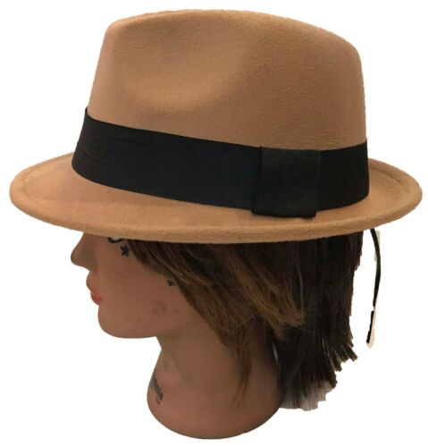 58e215f68bd 1 of 4 FEDORA TRILBY GANGSTER FEDORA BUCKET HAT MEN WOMEN CAP with Band   Size   57 cm