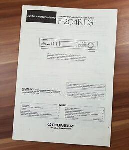Tv, Video & Audio Neueste Kollektion Von Bedienungsanleitung Pioneer F-204rds Tuner Reine WeißE