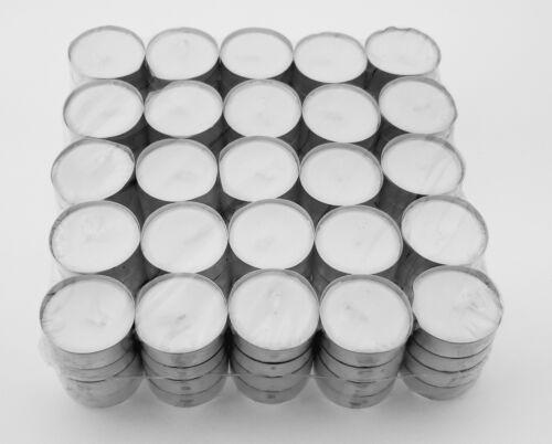 200 Teelichter weiß in Alu-Hülse unbeduftet 6 Stunden Brenndauer Kerzen Teelicht