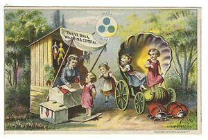Three Ball Washing Crystal Trade Card Ladybug Carriage