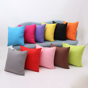 Multicolor-Solid-Pillow-Case-Polyester-Cushion-Cover-Decorative-Home-Sofa-Throw