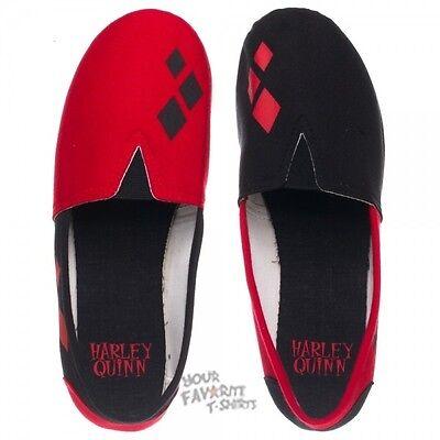Harley Quinn Logo Slip On Shoes Batman Joker Licensed DC Comics Women Shoes