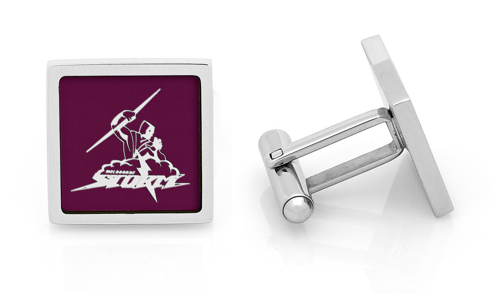 Melbourne Storm NRL Cuff Links Stainless Steel Etched Fathers Day Christmas Gift