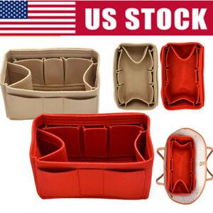 Multi-Pocket-Insert-Bag-Felt-Fabric-Purse-Handbag-Bag-Liner-Tote-Organizer-M-L