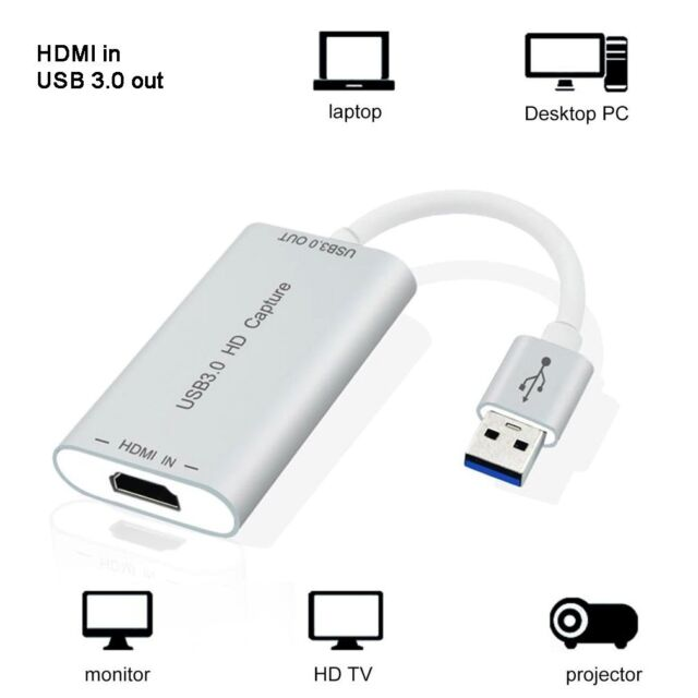 HDMI to USB 3 0 Adapter 1280p HD Video Capture Device 5gbps for Mac Linux  Win M5