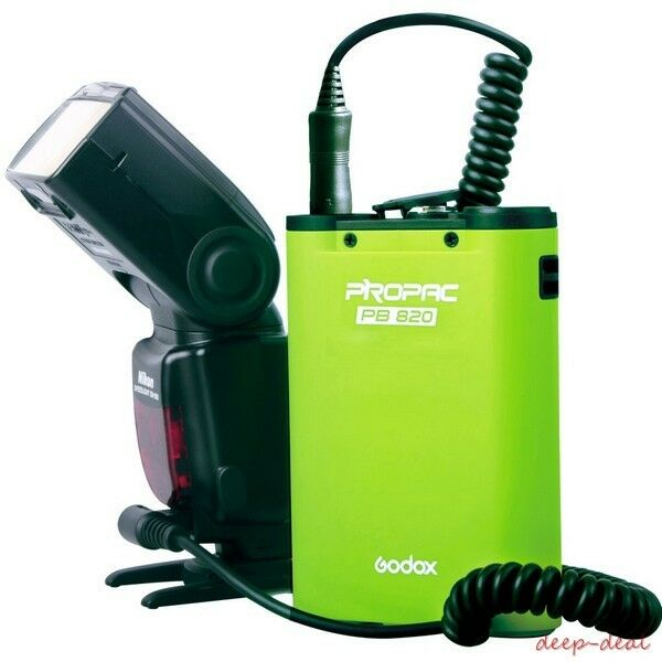 BLACK Godox PB820 820 External Flash Power Battery Pack Canon Nikon Sony Camera
