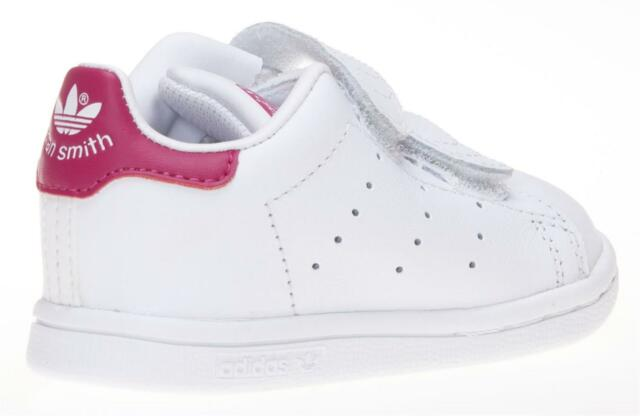 best website 5c084 53d6a Scarpe sportive bambina ADIDAS STAN SMITH B32704 TD in pelle bianco e rosa