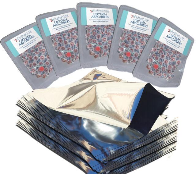 1 Gallon Ziplock Mylar Foil Bags for Food Storage 50 PackFreshUSA LTFS Guide
