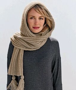 Knitting Pattern For Hooded Scarf Ebay