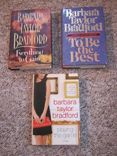 3 Barb. T Bradford 1st Eds: Playing the Game, To Be the Best, Everything to Gain
