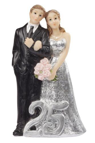 Beau silberpaar 25 Gâteaux dissertation//mariage PERSONNAGE//argent mariage//mariage 10 cm