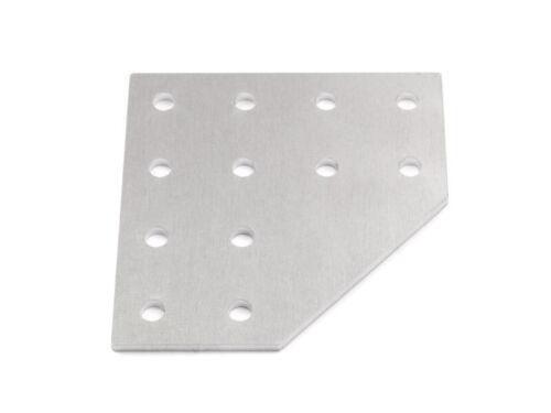 Verbinderplatte 78-L 12-loch gelasert Aluminium