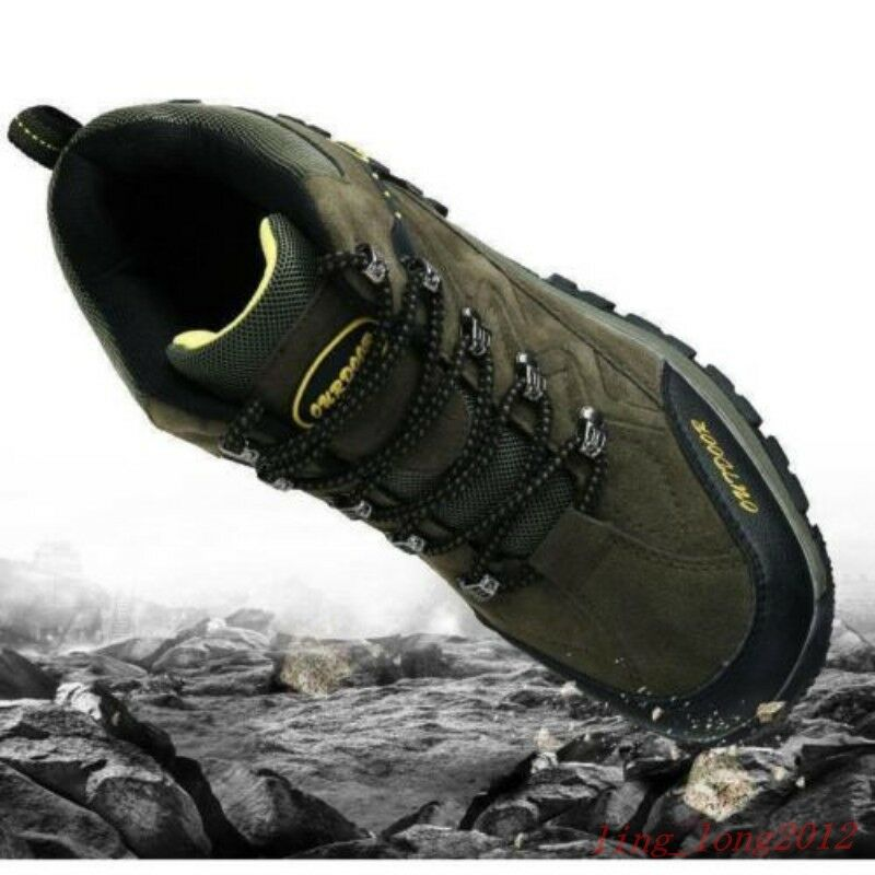 FU Mens Outdoor Waterproof Hiking Breathable High top Sneakers Climbing shoes