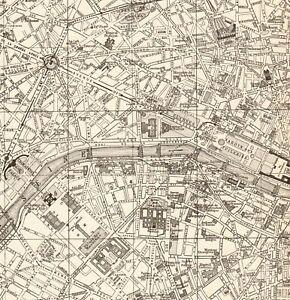 1923-Antique-PARIS-City-Map-Street-Map-of-Paris-France-Gallery-Wall-Art-7917