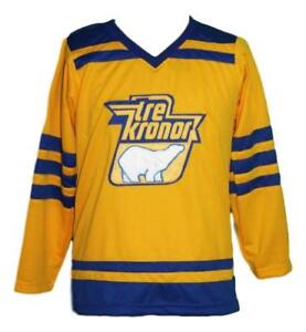 Custom Name   Sweden Tre Kronor Retro Hockey Jersey New Lindbergh ... a6bea57f3