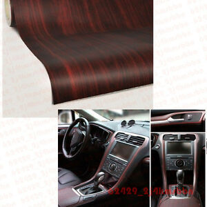 18x48 Car Pickup Interior Wood Grain Texture Vinyl Wrap Sticker Decal Teak Red Ebay