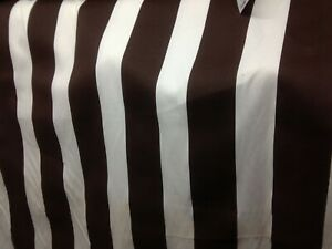 Admirable Details About 7 Mts Brown White Bold Striped Heavy Cotton Canvas Curtain Upholstery Fabric Bralicious Painted Fabric Chair Ideas Braliciousco