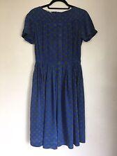 True Vintage Late 60's/early 70's Pure Silk Retro Polka Dot Dress