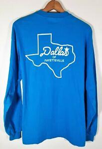 Vintage-80s-90s-Dallas-Texas-Single-Stitch-LS-T-Shirt-Hanes-Beefy-USA-Sz-XL