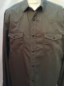 Asos-Khaki-Military-Utility-Shirt-Popper-Fastening-Size-UK-L-Bnwt-To-Fit-40-42