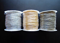 Bulk Jewelry Chain - Textured- 100m (328 Ft)- Ant Bronze, Gold, Platinum Silver