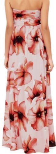 a Maxi Bnwt floreale Floreale 14 Monsoon color Uk stampa fiori di colore multi con Abito EqdwPE