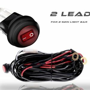 s l300 led light bar wiring harness fuse relay switch offroad atv utv
