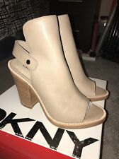 BNIB DKNY 'WHALEN Leather Heeled  Shoes In Light Taupe UK 5 EU 38