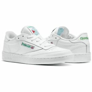 5e3a7083e83 Reebok Club C 85 AR0456 White Green Leather Casual Men Shoes Fast ...