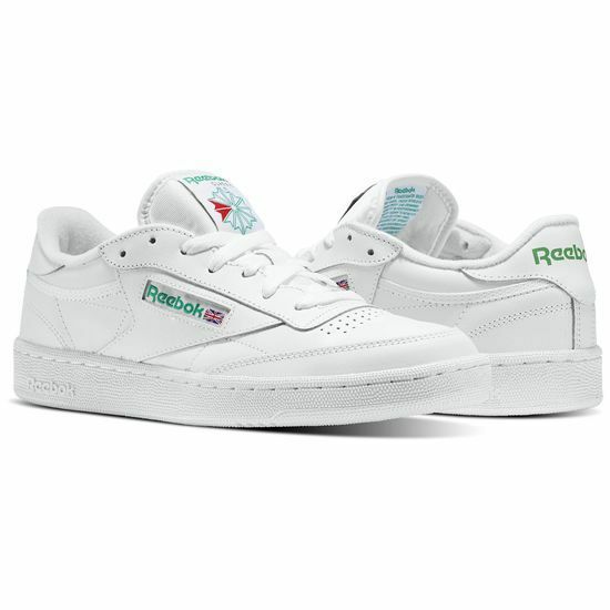 Reebok Club C 85 AR0456 WhiteGreen Leather Casual Men Shoes Fast Shipping