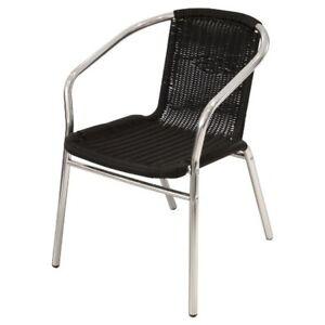 Ye 35 Black Rattan Garden Chairs Patio