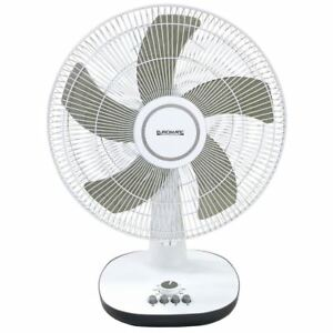 Euromatic 40cm Desk Fan - 3Spd - Oscillating & Tilt - 60W - Timer - 5 Blades