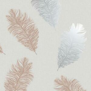 Details About Feathers Wallpaper Glitter Metallic Rose Gold Silver Grey Textured Holden