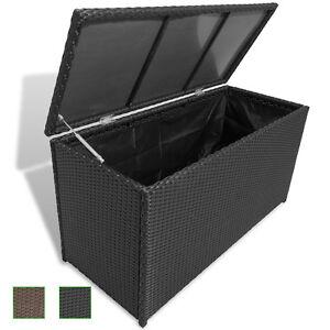 Poly Rattan Auflagenbox Gartentruhe Gartenbox Kissenbox Box Truhe