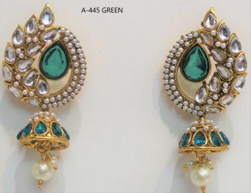 Indian Bollywood Gold Plated Earring Jumka Jumki Drop Traditional oxidized
