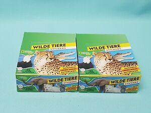 National-Geographic-Topps-Wilde-Tiere-Animals-Sticker-2-x-Display-60-Tuten