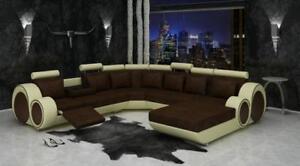 Textil Sofa Xxl Wohnlandschaft Stoff Couch Big Sofa Polsterecke