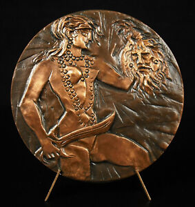 Medal Judith Back- Jewish Suave Béthulie Head Holofernes Judaica Jiri Hejna