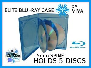 15mm-VIVA-ELITE-Replacement-Blu-Ray-Case-holds-5-discs-B