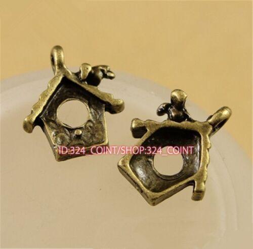 P1524 20pc Antique Bronze bird/'s nest DIY Pendant Bead Charms Jewellery Making