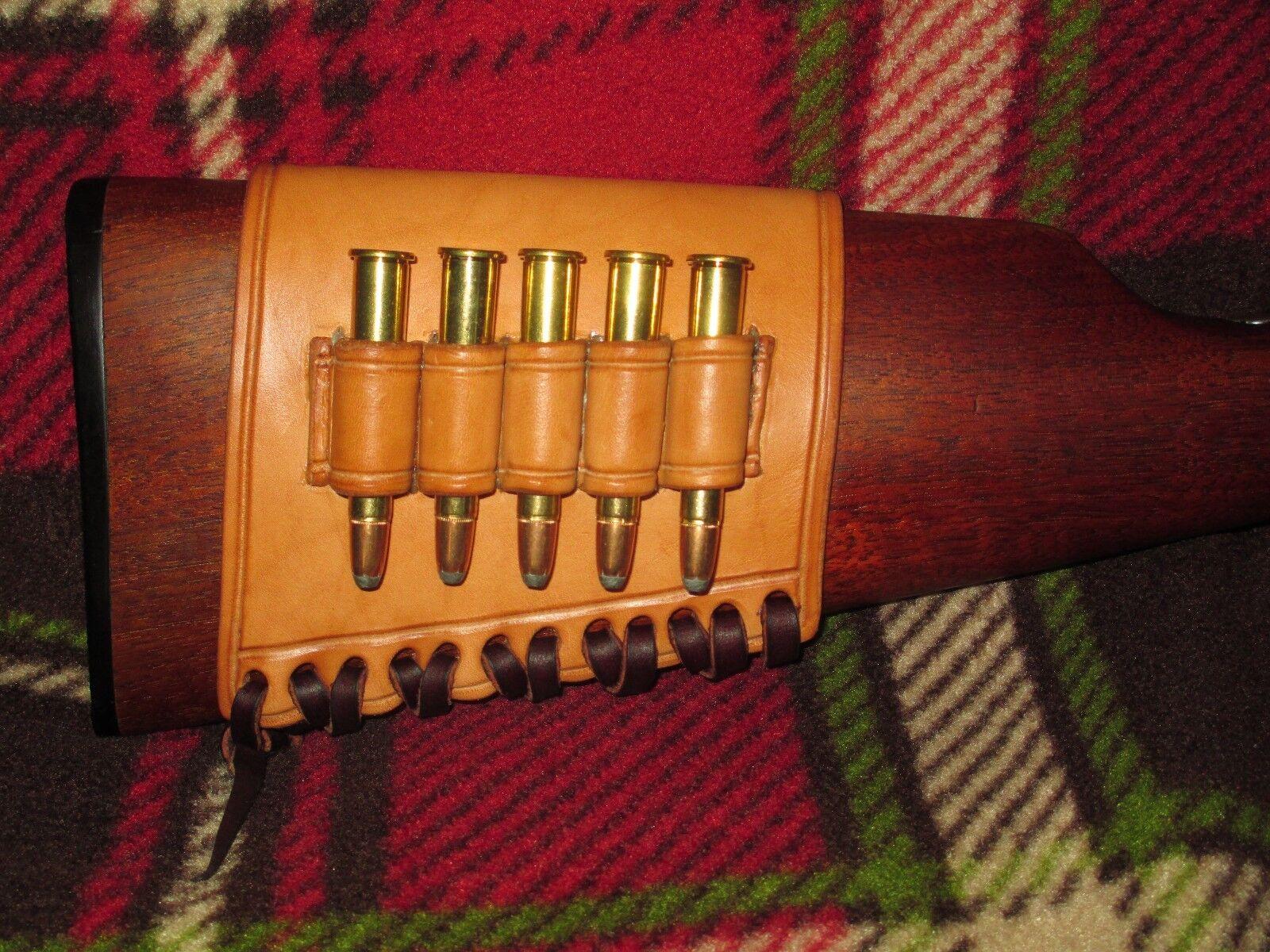 Cartucho de Rifle Stock bucles de cuero para Winchester Marlin Personalizado De Palanca Action