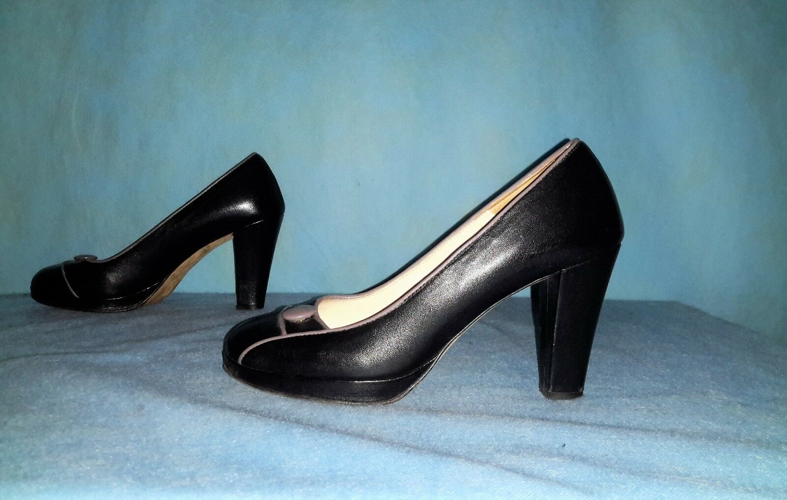 Escarpins PAUL tout & JOE SISTER tout PAUL cuir noir pointure 38,5 fr TBE de4b06