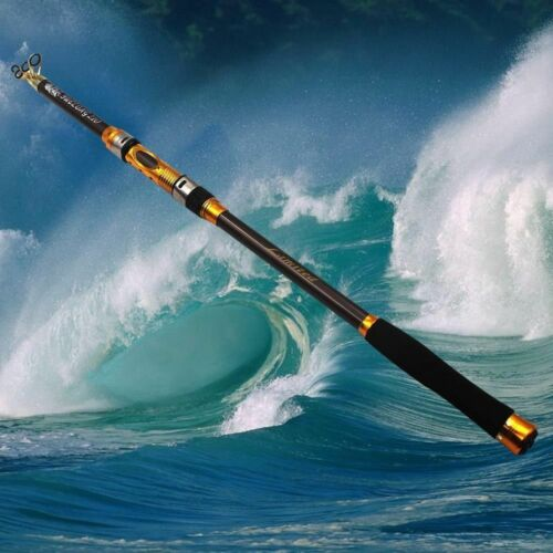 Telescopic Fishing Rod Spinning Fish Hand Tackle Sea Carbon Fiber Pole US Ship