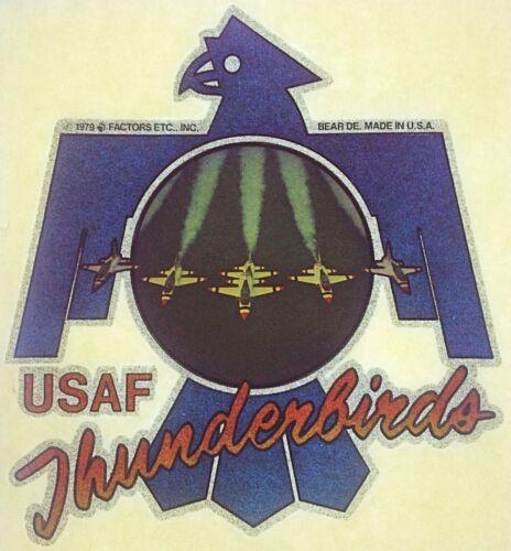 Original Vintage USAF US Air Force Thunderbirds Iron On Transfer